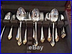 Oneida Community Golden Kenwood Stainless Flatware, Service 9, 53 Piece Set, New
