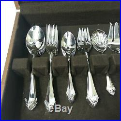 Oneida Community Kenwood Flatware Service for 8 45 Piece Set Stainless Steel 915