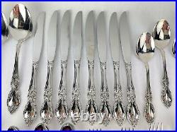 Oneida Community LOUISIANA Stainless Glossy Silverware Flatware 52 pc Serving