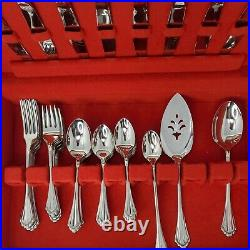 Oneida Community Marquette Flatware Stainless Steel Set 59 pieces & box