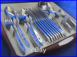 Oneida Community' My Rose' 52 Pc Set Service for 8 Vintage Stainless Flatware