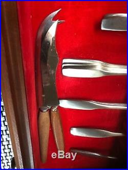 Oneida Community PAUL REVERE Stainless Steel Flatware Lot of 78 pcs, 2 Drawer Box