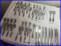 Oneida Community Paul Revere Stainless Flatware 45 Pieces 8 Place Settings