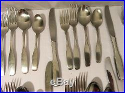 Oneida Community Paul Revere Stainless Flatware 54 Pieces 8 Place Settings Serve