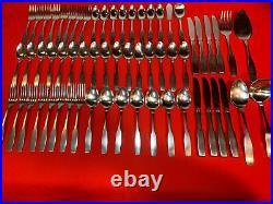 Oneida Community Paul Revere Stainless Flatware 61 Pieces
