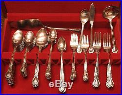 Oneida Community Plantation Stainless Flatware 82 Pieces With Case And Serving