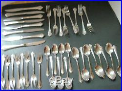 Oneida Community Royal Flute 39 pcs- 8 piece place settings Forks Knives Spoons