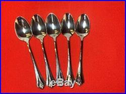 Oneida Community Royal Flute Teaspoons Stainless 6 Set Of 8