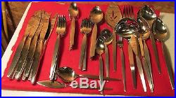 Oneida Community Satinique Stainless Set New- 55 pcs