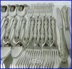 Oneida Community Stainless BRAHMS Stainless Flatware Service for 8+ 71pc EUC