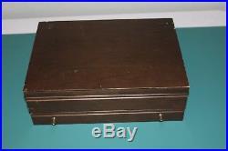 Oneida Community Stainless Brahms Flatware 88 Pieces With Wood Storage Box