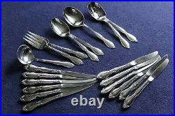 Oneida Community Stainless Chatelaine 56 Pc Flatware Set Serving Service for 6 +