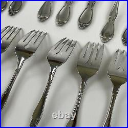 Oneida Community Stainless Flatware Chatelaine Lot 46 Pieces Forks Knives Spoons