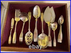 Oneida Community Stainless Flatware Paul Revere 68 Pcs W Serving & Janel Chest