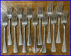 Oneida Community Stainless PATRICK HENRY Dinner Fork Knives Teaspoons Lot of 37
