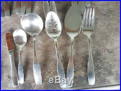 Oneida Community Stainless Paul Revere 59 Piece Lot Set Fork Knife Spoon Serving