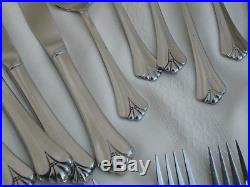Oneida Community Stainless Royal Flute / Serve 8 Forks, Spoons, Knives, Tea 48P
