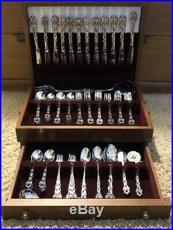 Oneida Community Stainless Steel Chandelier Flatware Silverware Set 105 Pc Case