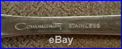 Oneida Community Stainless Steel Paul Revere 43 Piece Flatware set