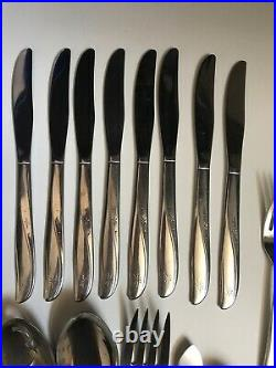 Oneida Community Stainless Steel Twin Star 45 Pc Complete Flatware Service For 8