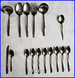 Oneida Community Twin Star Atomic stainless flatware, great condition, 54 piece
