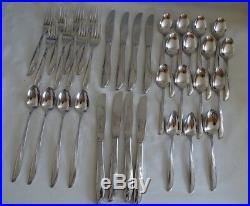 Oneida Community Twin Star Stainless Flatware 35pc set Mid-Century Modern
