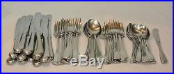 Oneida Cube AMERICAN COLONIAL Stainless Flatware 62 Piece Set Service for 12
