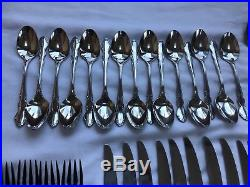 Oneida Cube Mark Dover 18/10 Stainless Flatware 58 Pieces With Serving Pieces