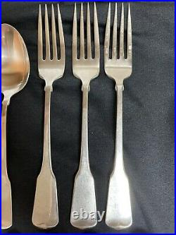 Oneida Cube Stainless American Colonial Flatware Lot 26 Pieces Fork Knife Spoon