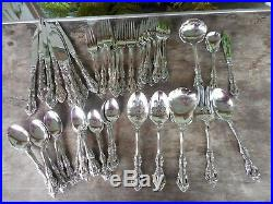 Oneida Cube Stainless Michelangelo 51 Piece Lot Set 8 Place Setting & Serving