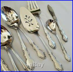 Oneida DOVER Satin 71 Pc Silverware Flatware Set for 12 Serving Pieces Stainless