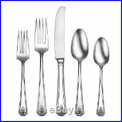 Oneida Deauville 45 Piece Fine Flatware Set, 18/10 Stainless, Service for 8