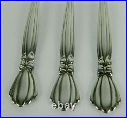 Oneida Deluxe ALEXIS Stainless Flatware 3 Dinner Forks Ribbon Bow