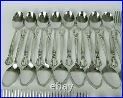 Oneida Deluxe ALEXIS Stainless Flatware Set Service for 12+ Bowtie Ribbon 85pc