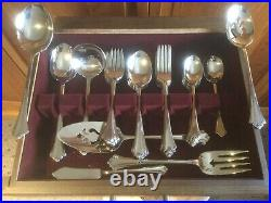 Oneida Deluxe Stainless Flatware Anticipation Pattern 51 Pcs with Original Box