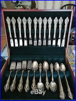 Oneida Deluxe Stainless Flatware Silverware Set RAPHAEL 103 Piece Service for 12