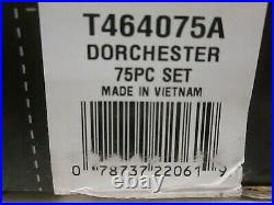 Oneida Dorchester 75 Piece Flatware Set Service for 12 Stainless Steel VVV 1327