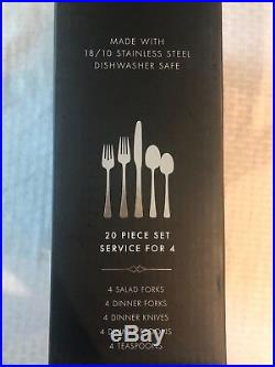 Oneida Dover 20 Piece Service for 4 Flatware 18/10 Stainless Steel Best Seller