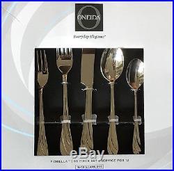 Oneida Fiorella 65 Piece Fine 18/10 Stainless Flatware Set, Service for 12