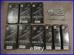 Oneida Flatware Heirloom Stainless 18/10 Satin Easton Made in USA New 44 Pieces