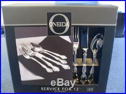 Oneida Flatware Mandolina 18/10 New 65 Piece Service For 12