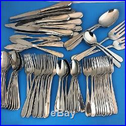 Oneida Flight Reliance Glossy Stainless Steel Service for 12 + Extras 76 Pieces