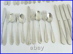 Oneida Flight Stainless Flatware 94pc Service for 14 + Extras
