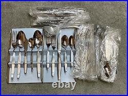 Oneida Frostfire stainless steel USA flatware 66 piece set