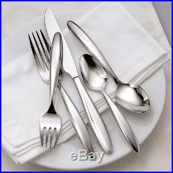 Oneida Glissade 65 Piece Casual Flatware Set, Service for 12
