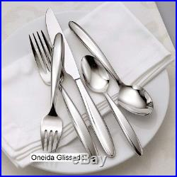 Oneida Glissade 65 Piece Service for 12 Stainless Flatware