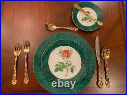 Oneida Golden Beethoven Stainless Flatware 100 Piece Set, 12 Piece Dining Set