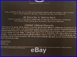 Oneida Golden Mandolina 45 Piece Fine Flatware Set 18/10 Stainless Service for 8