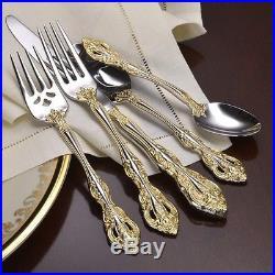 Oneida Golden Michelangelo 40 Piece Fine Flatware Set, Service for 8