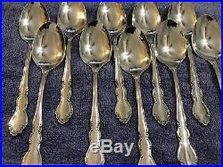 Oneida Heirloom Dover Glossy Stainless Flatware Lot of 50 pieces